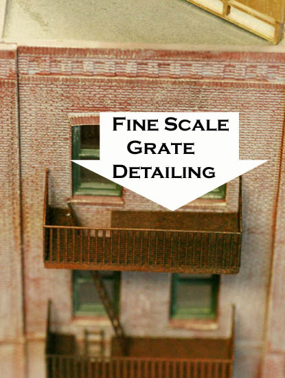 Ho Scale Building Side Detail Fire Escapes 20 Story