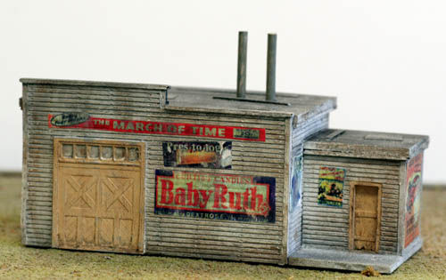 Ho scale utility shed loaded with advertising signs pre - Printable ho scale building interiors ...