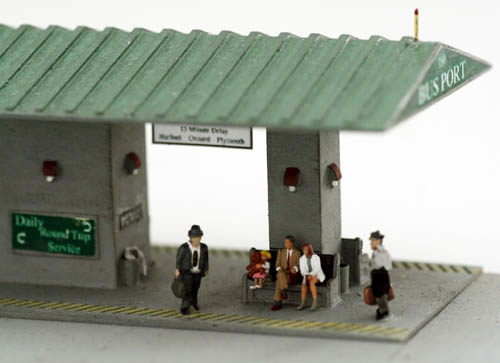 N Scale Kit 1930 S 1960 S Period Bus Port Terminal