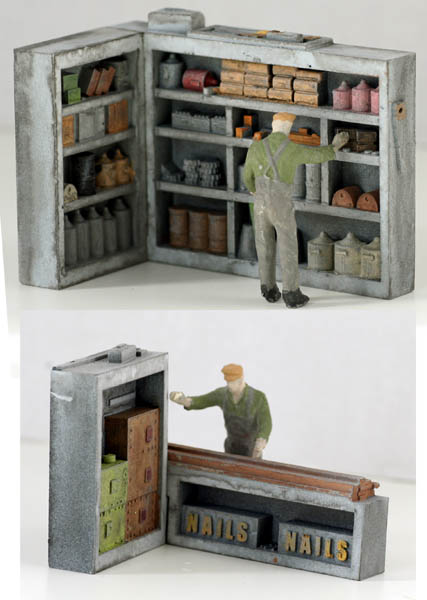 O scale detail corner shelving set 1 finished - Printable ho scale building interiors ...