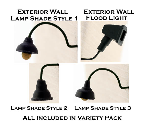 Ho Scale Exterior Lighting Variety Bulk Pack Of 12 Shades Pre Painted
