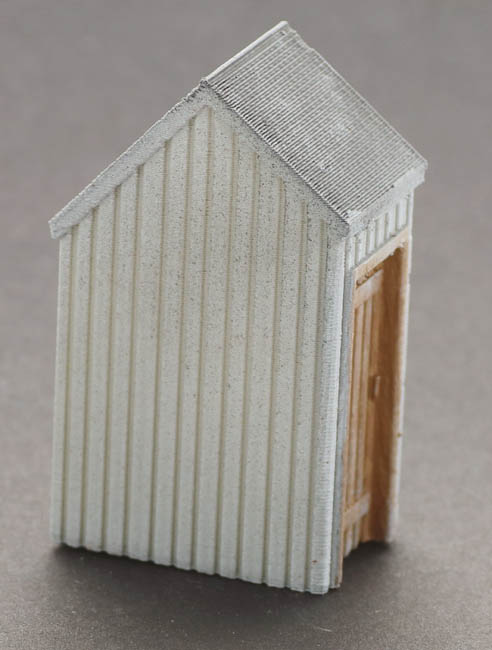 O Scale Rooftop Stair Well Exit Pitched Style Pre Aged
