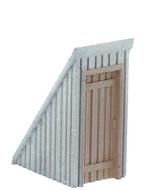 O Scale Rooftop Stair Well Exit Sloped Style Pre Aged