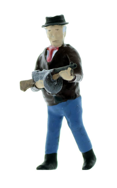 O Scale Mobster Figure Set