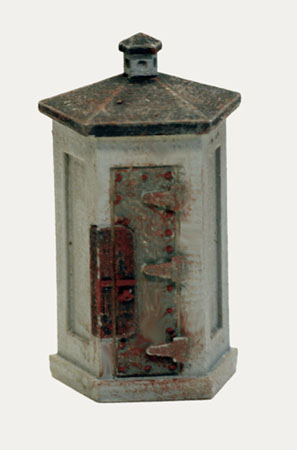 Ho scale detail concrete railroad telephone booths set of 2 freerunsca Choice Image
