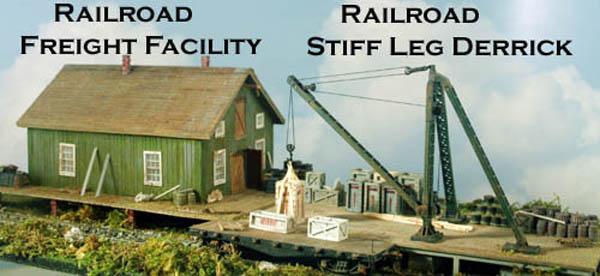 Ho Scale Railroad Kit Trackside Freight Facility