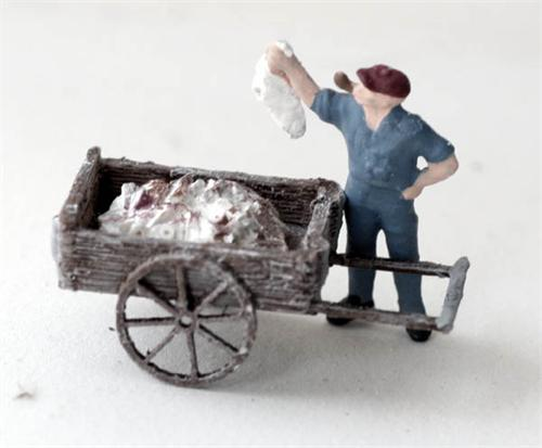 O scale detail fish monger fish carts with fish 2 pack for Mlf fishing scale