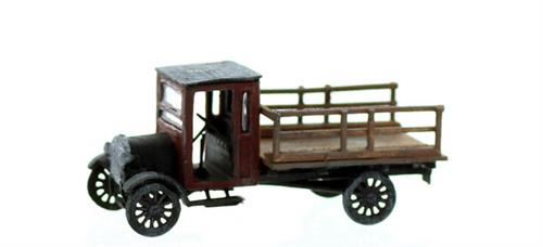HO scale vehicles stake bed truck