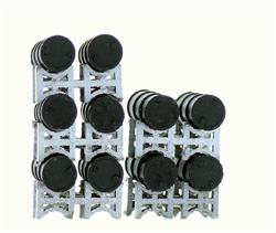 HO scale Detail Oil Drum storage racks