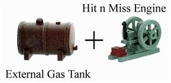 O scale engine, O scale gas tank, O scale Details, O gauge Detail