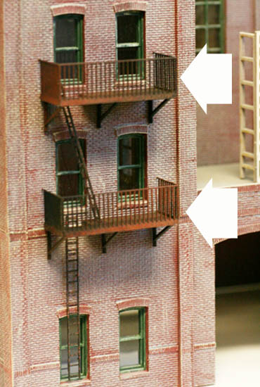 Ho Scale Building Side Detail Fire Escapes 20 Story Special Pack