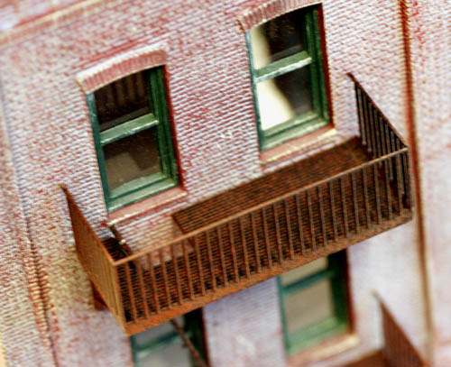 Iron Fire escapes for your structure detailing HO scale 8 Story Pack