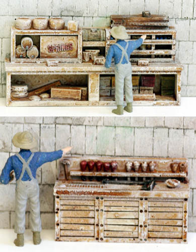 HO Scale Detail Old Time WORKBENCHES, Set #4, Built Up and Layout Ready