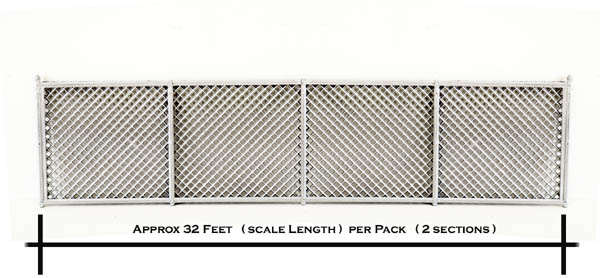 O Scale Detail Chain Link Fence 32 Scale Feet