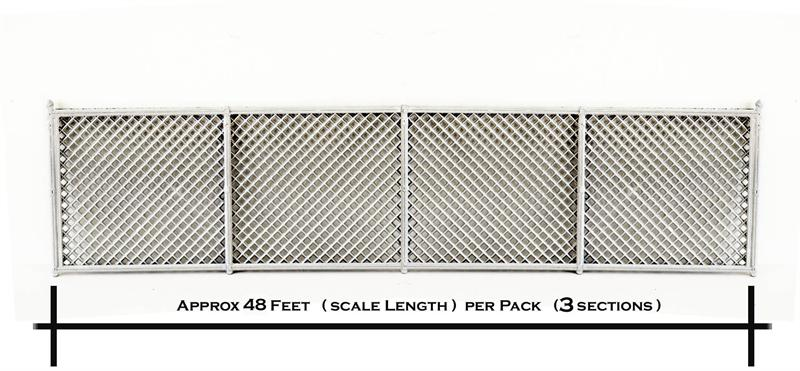 Ho Scale Detail Chain Link Fence 48 Scale Feet