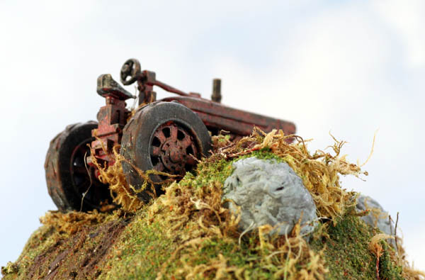 RUSTED out Derelict Farm Tractor......LEFT to RUST Painted for you O Scale