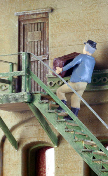 HO Scale Stairs Figure