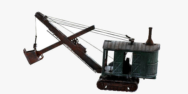 S Scale Built Up Of 1920 S 50 S Era Steam Shovel