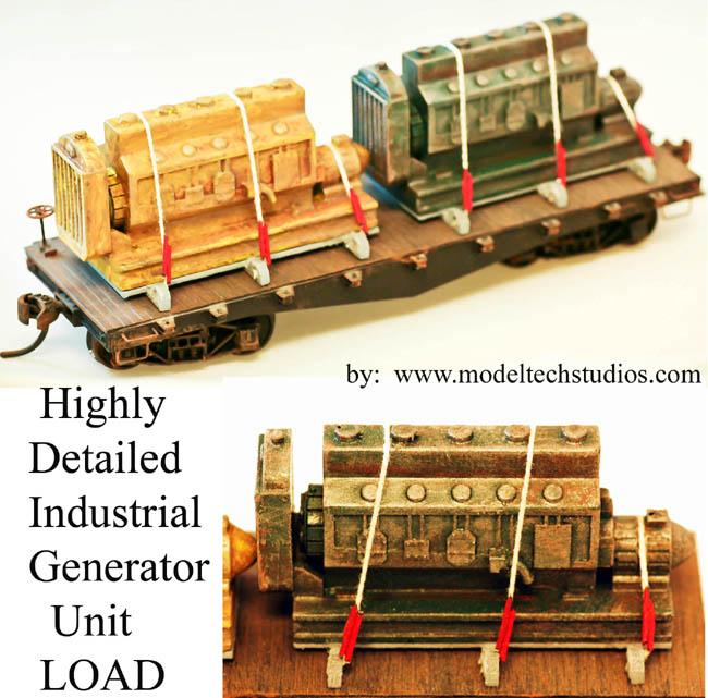 O Scale LOADS-RAILCAR -Power Generators 2 pack