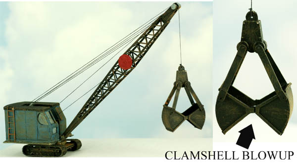 Ho Scale Kit Industrial 30 Ton Crane With Clamshell Bucket