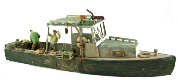N Scale Boat Series, LOBSTER WORK BOAT kit