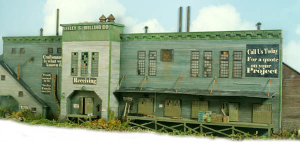 3D Background HO Scale Kit Seeley Milling Company Scene