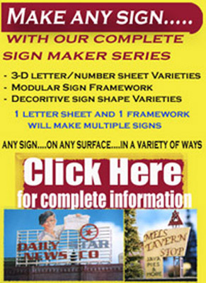 O Scale Railroad Billboard And Signmakers Set Make Any Sign