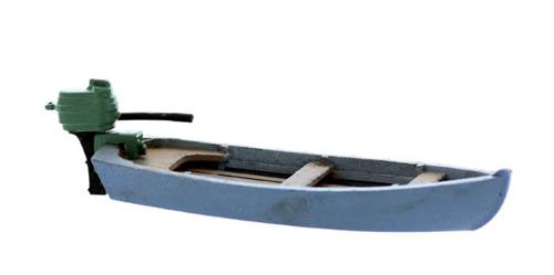 O scale boat series small motor boat with outboard kit for Small motor boat cost