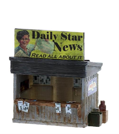 Newspaper stand roadside kit O gauge