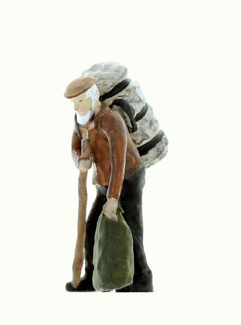 HO scale Figure Hobo with packs finished