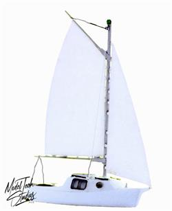 HO scale SLOOP sailboat model kit with pre assembled hull 1//87 scale